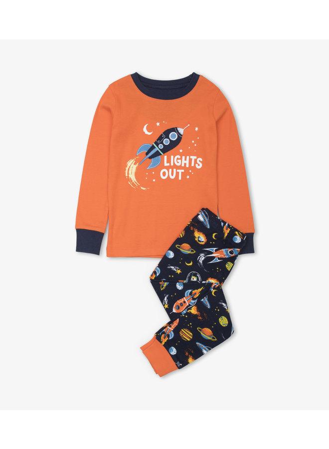 Hatley Pyjama Retro Rockets Peacoat