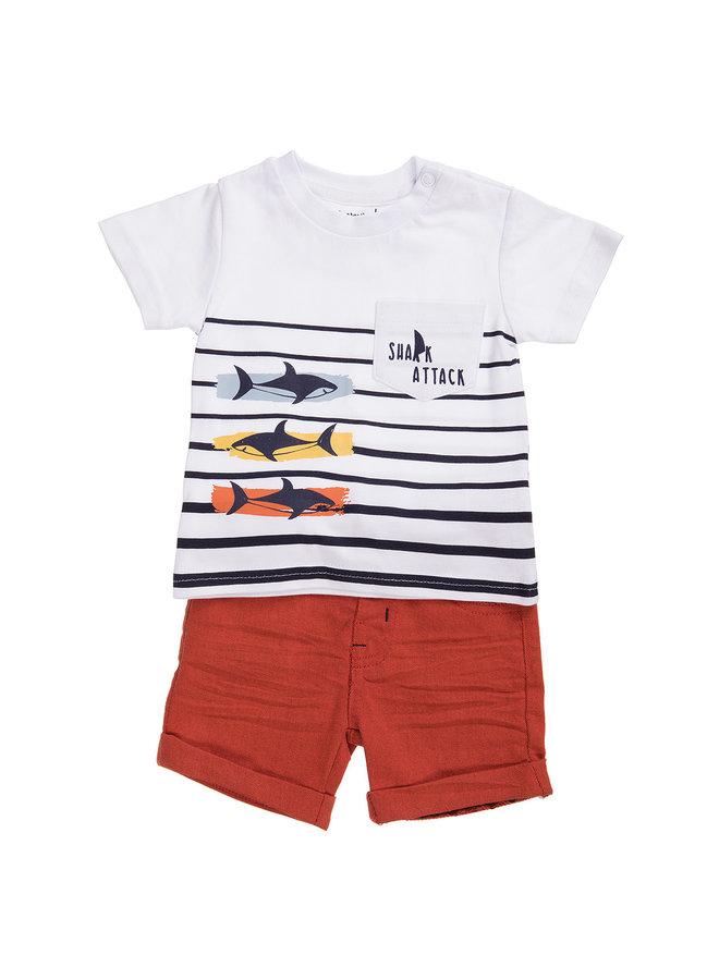 Babybol Kleding Set (2st) Shark Attack