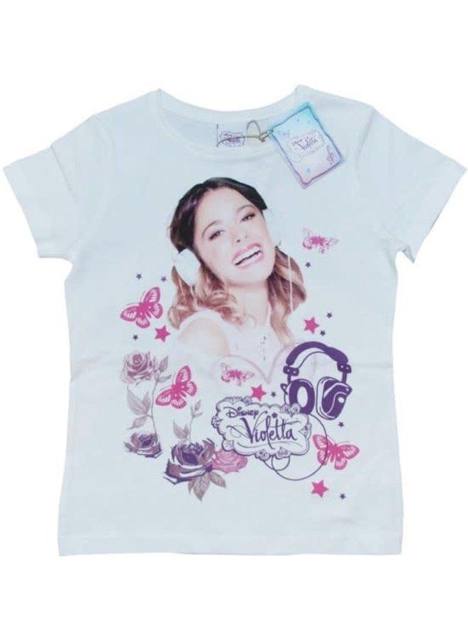 Name-it Meisjes Shortsleeve T-shirt Violetta (Wit)
