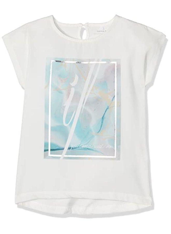 Name-it Shortsleeve Meisjes Tshirt NITISRA (Blauw)