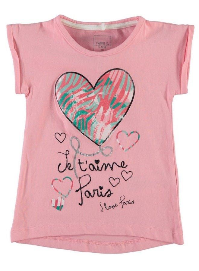 Name-it Meisjes Tshirt Fletta (ja taime) (Roos)