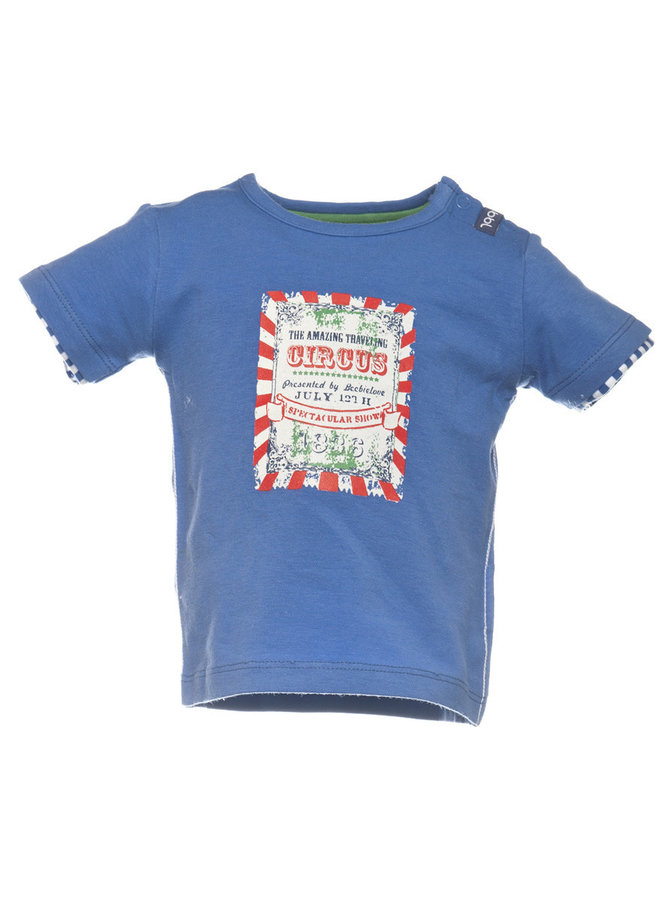 Beebielove Babykleding Blauwe Jongens Tshirt Circus