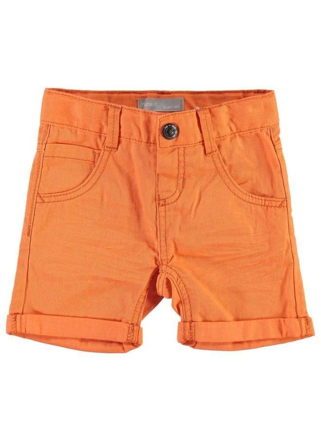 Bermuda short nitisak mini (Oranje)