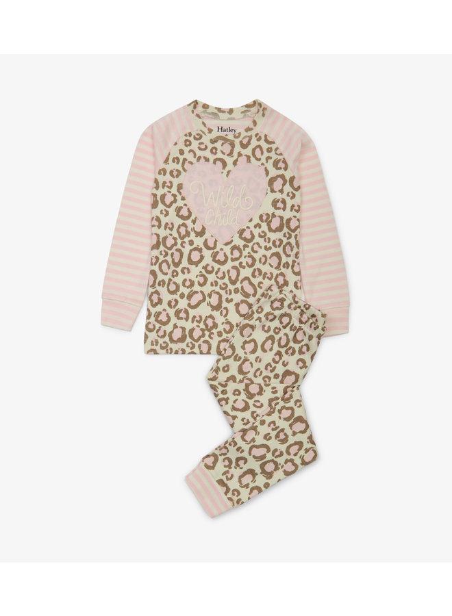 Hatley Meisjes 2-delige Pyjamaset Painted Leopard
