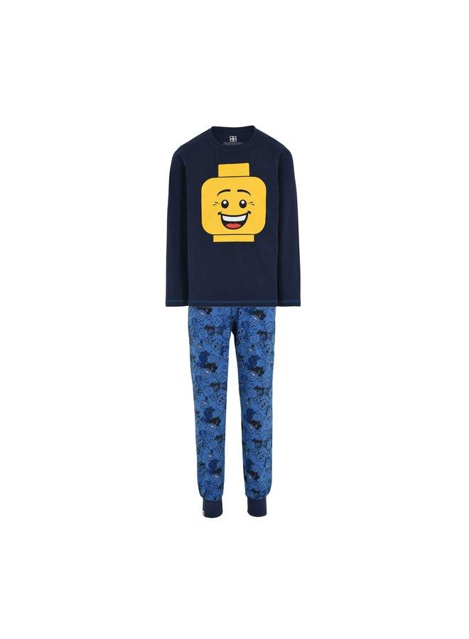 Legowear Blauwe Jongens Pyjama Lego Hoofd