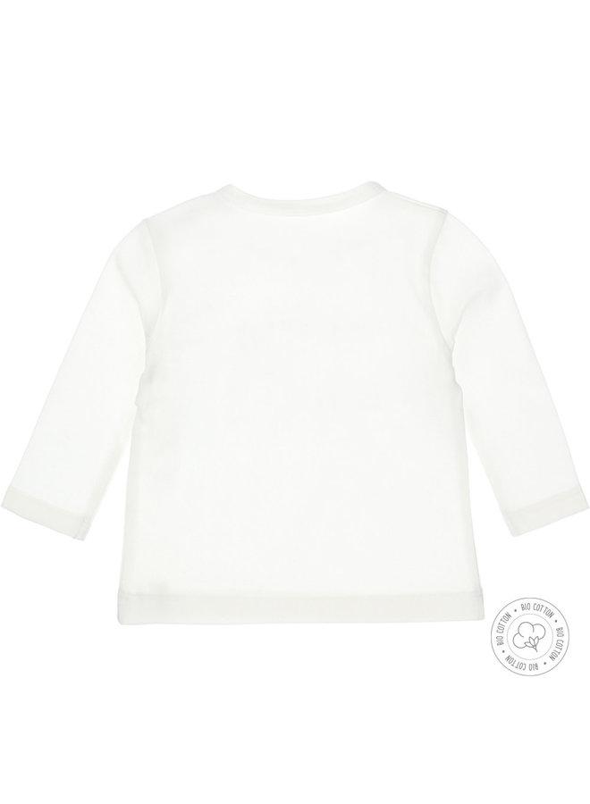 Dirkje Jongens Tshirt Trouble Maker Off White