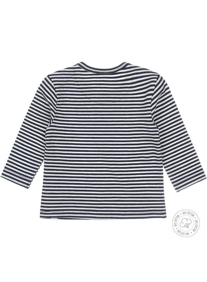 Dirkje Jongens Tshirt One Of A Kind Navy Stripes