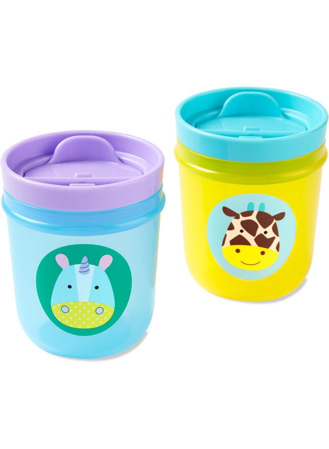 Skip Hop Zoo Tumbler Drink Cup Unicorn - Giraffe