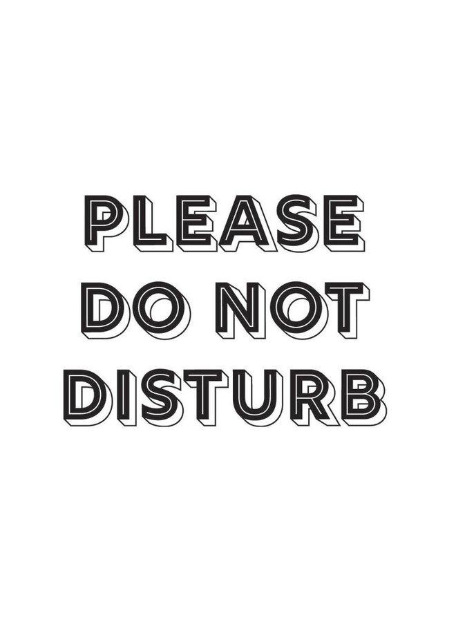 Kurtis Pram Curtain Please Do Not Disturb Black & White