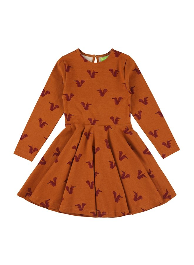 Lily Balou Meisjes Jurk Trissia Circle Dress Squirrels