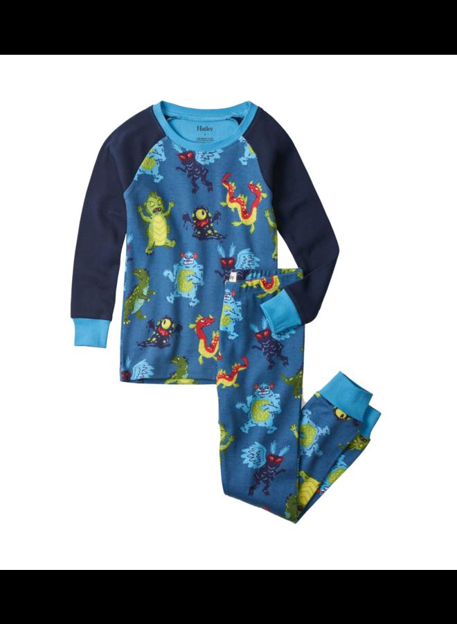 Hatley 2delige Jongens Pyjama Creepy Cryptids Stellar