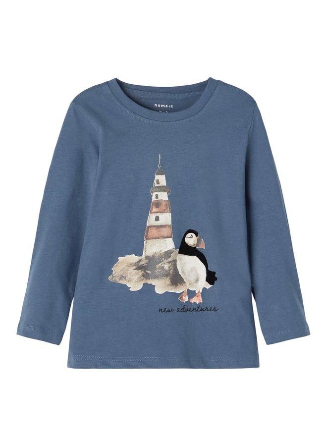 """Name-it Jongens Tshirt Osvald """"Vuurtoren"""" Bering Sea"""