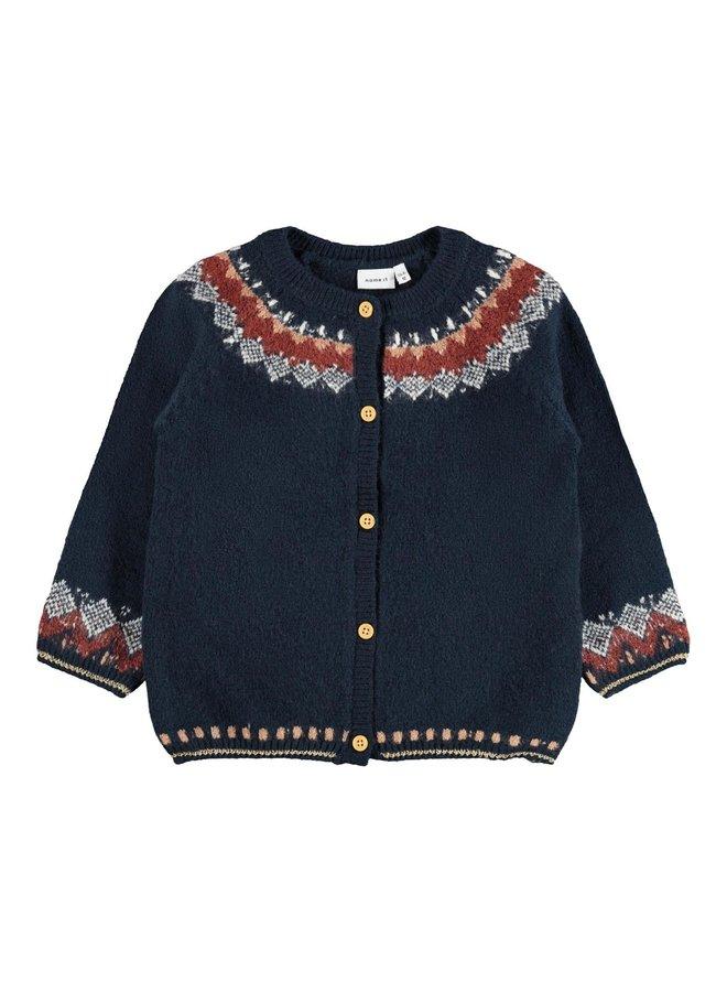 Name-it Meisjes Knit Cardigan Oline Dark Sapphire