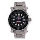 Polaris stainless case and bracelet with black dial 42001