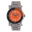 Polaris orange dial with stainless case and bracelet 42008