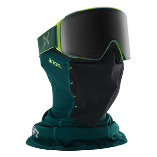Anon M4 Cylindrical MFI Goggle & Face Mask Green/Smoke + extra lens