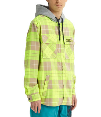 Analog Integrate Hooded Flannel Hoodie High Viz Bloom Plaid