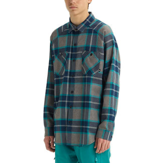 Analog Transmission Flannel Shirt Green-Blue Mind Plaid