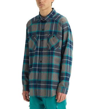 Analog Transmission Green-Blue Mind Plaid Flannel Snowboard Shirt