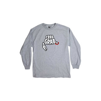 Crab Grab Death by Claw Long Sleeve T-shirt Grey