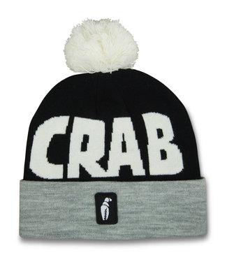 Crab Grab Pom Beanie Grey/Black