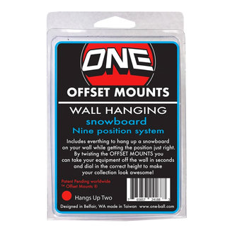One Ball Board Collector Wall Mounts 2pack