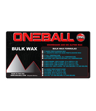 One Ball 4WD Bulk Snow Wax Warm 750gr