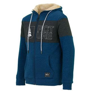 Picture Basement Fleece Hoodie Zip Picture Blue
