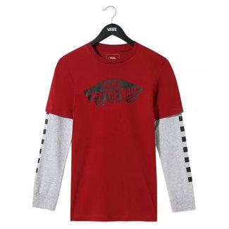 Vans Boys OTW Twofer T-shirt Lange Mouwen Biking Red