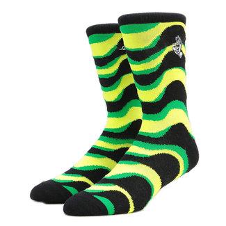 Santa Cruz Kaleido Hand Sock Lime/Black O/S