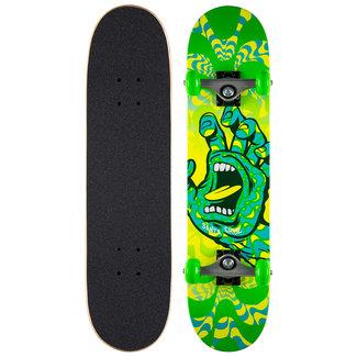 "Santa Cruz Kaleidohand Green 7.25"" Complete Skateboard"