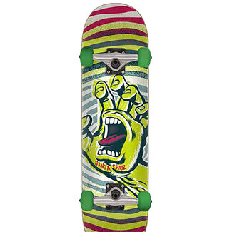 "Santa Cruz Off Hand Yellow/Red 7.75"" Complete Skateboard"