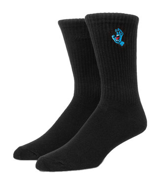 Santa Cruz Socks Screaming Mini Hand Black O/S