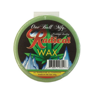 One Ball Green Snowboarding Wax All Temp 150g