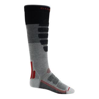Burton M Performance Plus Lw Cp Sock Gray Heather Block
