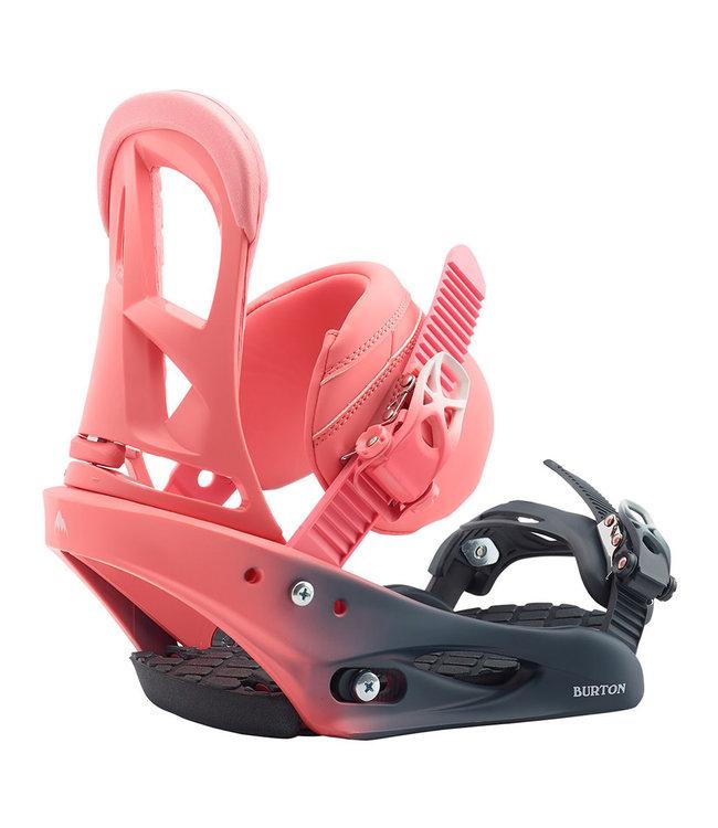 Burton Stiletto Snowboard Binding Pink Fade