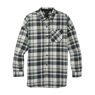 Burton W Grace Flannel True Black Elias Plaid