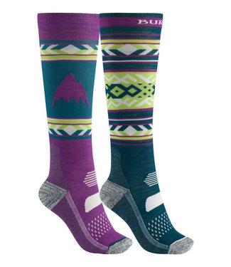 Burton W Performance Lw Sock 2Pk Green-Blue Slate