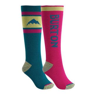 Burton W Weekend Sock Mdwt 2Pk Green-Blue Slate