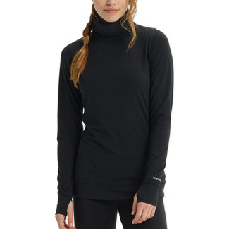 Burton W Baselayer Mdwt Long Neck True Black
