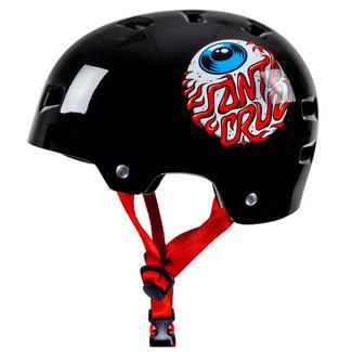 Bullet x Santa Cruz Eyeball Youth Helm Gloss Black O/S