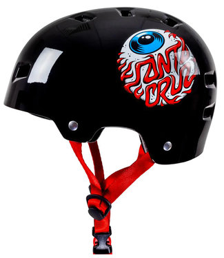 Bullet x Santa Cruz Eyeball Youth Helm Gloss Black (49-54cm)