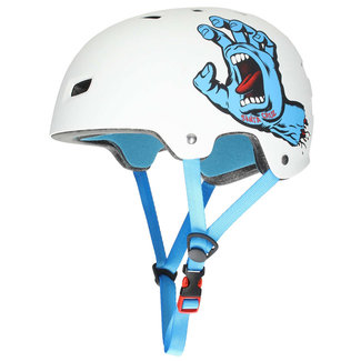 Bullet x Santa Cruz Screaming Hand Helm Matte White L/XL
