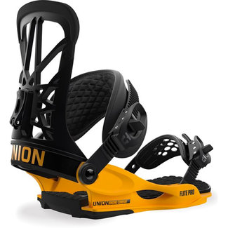 UNION Flight Pro Black & Yellow Snowboard Binding