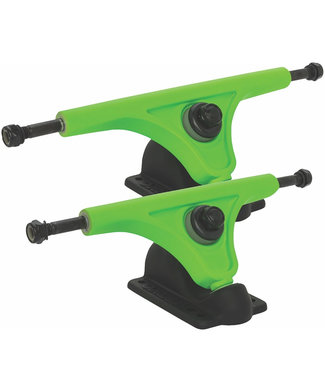 Globe Slant Magnesium Reverse Trucks Set 150mm Fluo Green Black