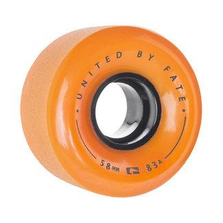 Globe Bruiser Cruiser Wheels 58mm 83A Orange Black