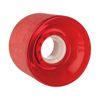 Globe Bantam Longboard Wheels 62mm 83A Clear Red
