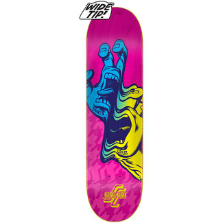 Santa Cruz Glitch Hand Wide Tip Pink 8.25 Skateboard Deck