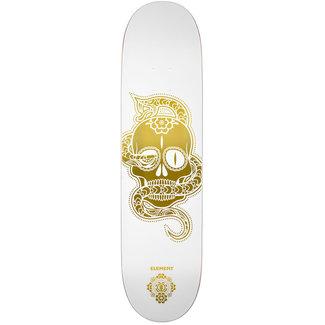 Element Calavera White Gold 8.0 Skateboard Deck