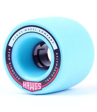 Hawgs Fatty Cruiser Longboard Wheels 63mm/78A Blue